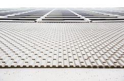 Testes padrões do fundo da parede exterior concreta da construção Fotografia de Stock Royalty Free
