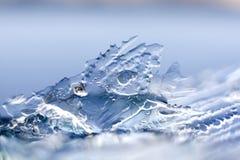 Testes padrões do gelo Imagem de Stock Royalty Free