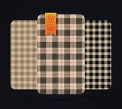 Testes padrões do guingão e testes padrões da manta da verificação do búfalo Imagem de Stock Royalty Free