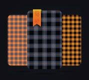 Testes padrões do guingão e testes padrões da manta da verificação do búfalo Foto de Stock Royalty Free