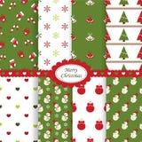 Testes padrões do Natal Imagem de Stock Royalty Free