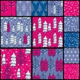 Testes padrões do Natal Fotos de Stock Royalty Free