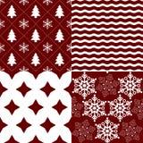 Testes padrões do Natal ilustração do vetor