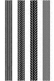 Testes padrões do passo do pneu Imagens de Stock Royalty Free