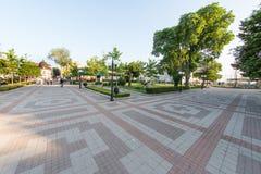 Testes padrões do pavimento de Pomorian, Bulgária Imagem de Stock