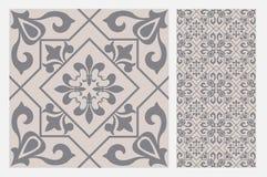 Testes padrões do projeto do ofício da parede da telha do vintage Fotografia de Stock