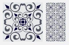 Testes padrões do projeto do ofício da parede da telha do vintage Imagens de Stock Royalty Free