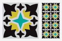 Testes padrões do projeto do ofício da parede da telha do vintage Imagem de Stock Royalty Free