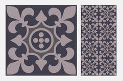Testes padrões do projeto do ofício da parede da telha do vintage Foto de Stock