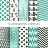 Testes padrões do vetor para o dia de St Patrick Fotos de Stock Royalty Free