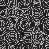 Testes padrões do vetor do vintage com as rosas de escalada no fundo marrom e branco do às bolinhas Foto de Stock Royalty Free