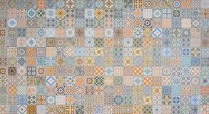 Testes padrões dos azulejos imagens de stock