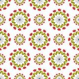 Testes padrões dos círculos em um fundo branco Fotos de Stock Royalty Free