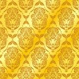 Testes padrões dourados abstratos Imagens de Stock