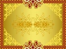 Testes padrões dourados retros Ilustração Royalty Free