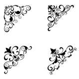 Testes padrões e beiras de flor Imagem de Stock