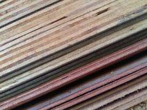 Testes padrões e texturas e linhas da madeira compensada fotografia de stock royalty free