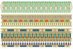 Testes padrões egípcios antigos ilustração do vetor
