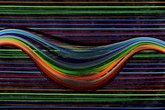 Testes padrões em um saco de pano e em uns papéis quilling Imagem de Stock