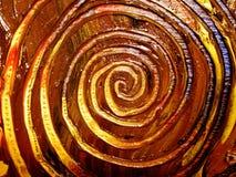 Testes padrões espirais pintados originais Foto de Stock