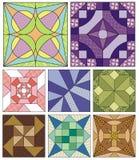 Testes padrões estofando tradicionais Fotos de Stock Royalty Free