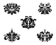 Testes padrões florais Foto de Stock