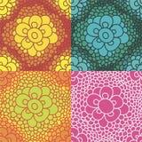 Testes padrões florais Imagens de Stock