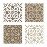 Testes padrões florais abstratos Fotografia de Stock Royalty Free