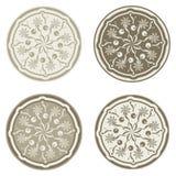 Testes padrões florais abstratos Imagens de Stock Royalty Free