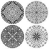 Testes padrões florais ajustados Fotografia de Stock
