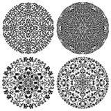 Testes padrões florais ajustados Foto de Stock