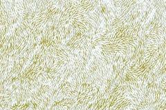 Testes padrões florais chineses ou japoneses amarelos como tirados em uma porcelana ilustração stock