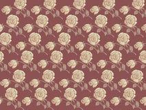 Testes padrões florais de Rosa Ilustração Royalty Free