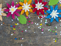 Testes padrões florais decorativos Fotografia de Stock Royalty Free