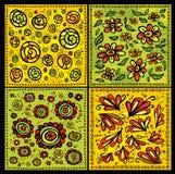 Testes padrões florais decorativos sem emenda do vetor dos rolos Ilustração Stock