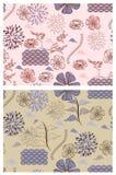 Testes padrões florais do estilo japonês Fotografia de Stock Royalty Free