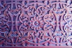 Testes padrões florais do otomano na madeira Fotos de Stock
