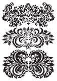 Testes padrões florais do vetor ilustração stock