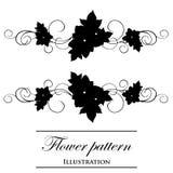 Testes padrões florais em um fundo branco Fotografia de Stock