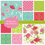 Testes padrões florais - Poppy Theme ilustração royalty free