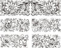 Testes padrões florais simétricos Fotografia de Stock Royalty Free