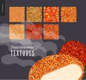 Testes padrões fritados carne da textura Fotos de Stock