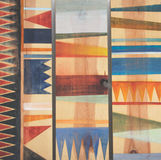 Testes padrões geométricos abstratos na madeira Foto de Stock Royalty Free