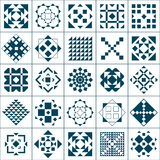 Testes padrões geométricos ajustados Imagens de Stock Royalty Free