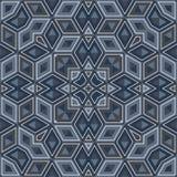 Testes padrões geométricos azuis de Dà¸'ark ilustração do vetor
