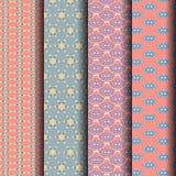 Testes padrões geométricos dos grupos, rosa, azul Foto de Stock