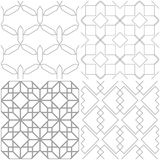 Testes padrões geométricos Grupo de fundos sem emenda cinzentos e brancos da luz - Imagens de Stock Royalty Free