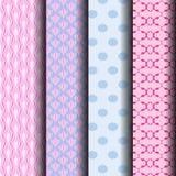 Testes padrões geométricos na cor pastel Foto de Stock
