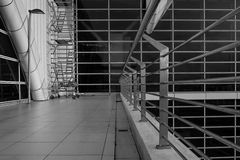 Testes padrões geométricos nas construções Fotos de Stock Royalty Free