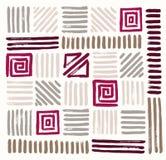 Testes padrões geométricos pintados tirados mão Ilustração do vetor Imagens de Stock Royalty Free